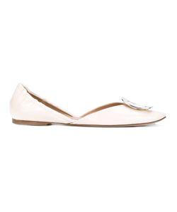 Roger Vivier | Ballerine Chips Buckle Shoe Size 37.5 Leather/Patent