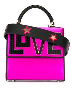 Les petits joueurs | Love Slogan Tote Silk/Plastic/Leather