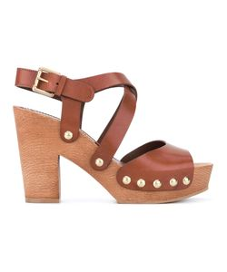 L' Autre Chose | Lautre Chose Clogs With Crossover Straps Calf