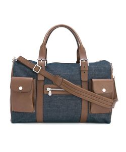 Brunello Cucinelli | Denim Panel Holdall Leather/Cotton