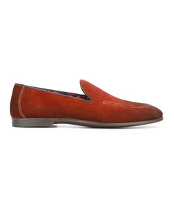 Doucal's | Suede Loafer Shoes 42 Leather/Cotton/Rubber