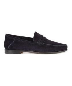 Santoni | Brock Penny Loafers 9.5 Leather/Suede