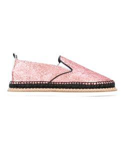 Kenzo | Glitter Espadrilles 35 Cotton/Leather/Rubber
