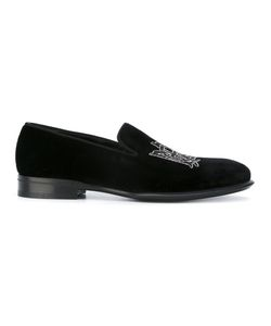 Alexander McQueen | Insignia Beaded Slippers 42 Leather/Velvet