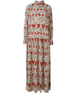 Ryan Lo | Длинное Платье-Рубашка Leopard Heart