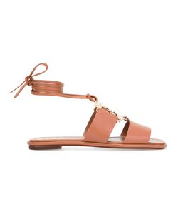Tory Burch | Gemini Link Lace-Up Sandals Size 8 Leather/Nappa