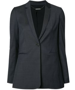 Elie Tahari | Embroide Trim Blazer 4 Polyester/Spandex/Elastane/Wool