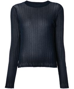 Helmut Lang | Ribbed Sheer T-Shirt Large Fibre/Nylon