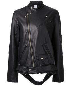 Maison Mihara Yasuhiro | Loose-Fit Leather Biker Jacket 38