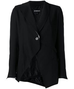 Ann Demeulemeester | Single Button Cutaway Blazer 38 Cotton/Nylon/Virgin