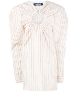 JACQUEMUS | Mini Pinstriped Dress With Keyhole Detailing 38