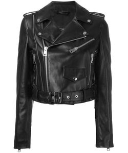 Manokhi | Cropped Biker Jacket 38 Leather/Viscose/Polyester