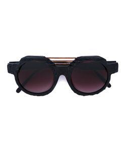 KUBORAUM   Burnt Round Sunglasses