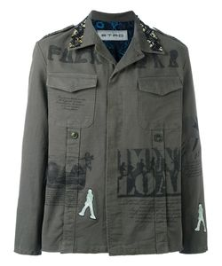 Etro | Printed Military Shirt Jacket Medium Cotton/Spandex/Elastane/Silk/Cupro