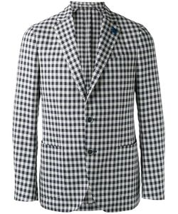 Lardini | Single-Breasted Blazer 50 Cotton/Polyester/Linen/Flax