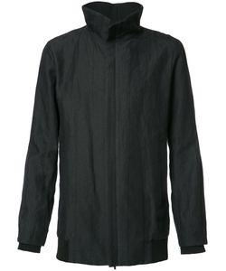 DEVOA | Front Zip High Neck Coat 4 Ramie/Polyester