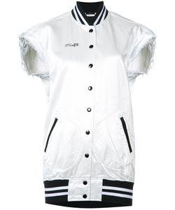 R13   Sleeveless Misfit Bomber Jacket Medium Cotton/Viscose