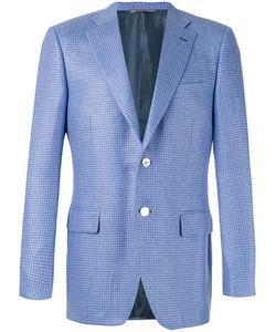 Canali | Hounstooth Pattern Blazer Size 50