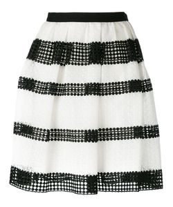 Michael Michael Kors | Striped Lace Pleated Skirt Size 8