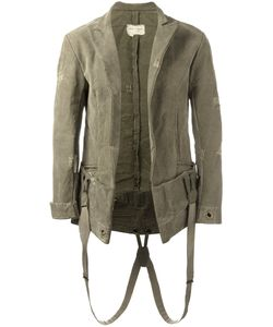 GREG LAUREN | Suspender Effect Blazer 2 Silk/Cotton/Linen/Flax