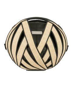 PERRIN PARIS | Round Shoulder Bag Straw/Leather