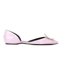 Roger Vivier | Square Plaque Ballerinas Size 41 Calf Leather/Leather/Metal