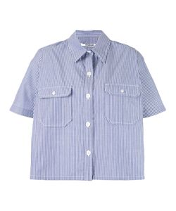 Chalayan | Striped Cape Shirt 40