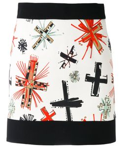 Fausto Puglisi | Graphic Cross Print Skirt