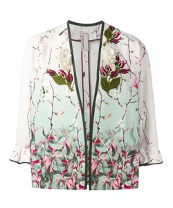Antonio Marras | Embroide Flower Jacket 40 Silk/Cotton/Linen/Flax/Plastic