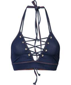 Jonathan Simkhai | Lace Up Grommet Bikini Top