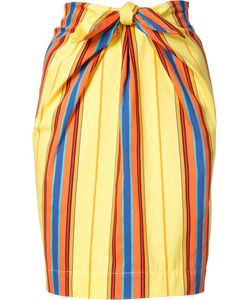 Moschino | Striped Tie Front Skirt 40 Cotton/Polyamide