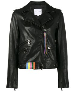 Mira Mikati | Racoon Biker Leather Jacket Women