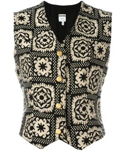 MOSCHINO VINTAGE   Patterned Waistcoat 44