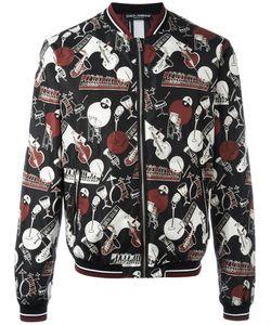 Dolce & Gabbana | Musical Instrument Print Bomber Jacket 48