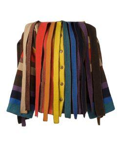 JC DE CASTELBAJAC VINTAGE | Rainbow Stripe Fringed Jacket