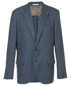 Brunello Cucinelli | Checked Suit Jacket Size 52