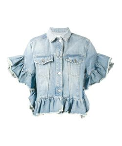 MSGM | Ruffle-Trimmed Denim Jacket 40 Cotton