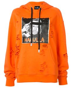 HACULLA | Distressed Logo Print Hoodie Size Small