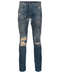 Black Fist | Custom Distressed Jeans