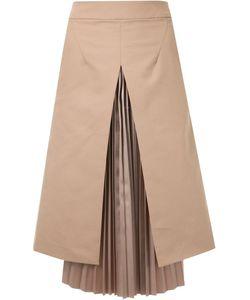 TARO HORIUCHI | Pleated Layer A-Line Skirt