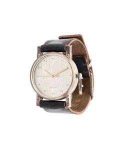 TAICHI MURAKAMI | Distressed Bracelet Round Frame Analog Watch