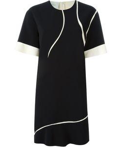 Cedric Charlier | Платье С Контрастной Окантовкой