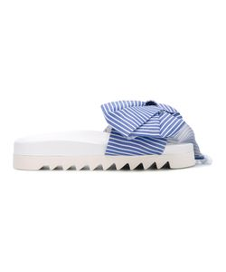 Joshua Sanders | Bow Striped Sandals Size 41