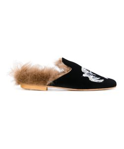 GIA COUTURE | Lama Fur Lined Slippers