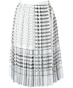 Sacai   Houndstooth Midi Kilt Skirt Size 3