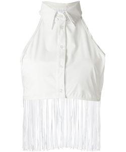 AMIR SLAMA   Fringed Detail Bikini Top P Cotton