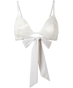 Carine Gilson | Jacquard Flower Bikini Top Size Large