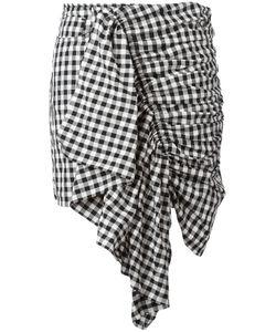 Marques Almeida | Marquesalmeida Checke Ruffle Skirt 8 Polyamide/Polyester