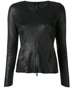Giorgio Brato | Zipped Fitted Jacket 44 Leather/Cotton/Spandex/Elastane