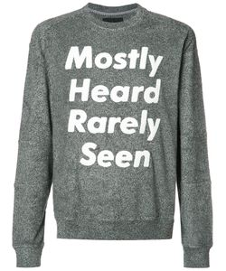 Mostly Heard Rarely Seen | Logo Print Sweatshirt Size Xl